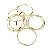 UltraThin Ring - 2 for 15.00 - 14 kt Gold Filled Stacking Ring - Simple Ring, Hand Hammered