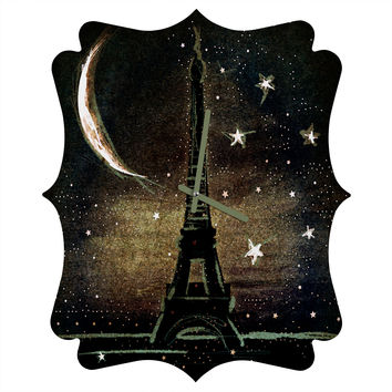 Deniz Ercelebi Paris Midnight Quatrefoil Clock