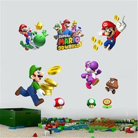 Removable Super Mario Kids Nursery Wall Decal Vinyl Stickers Art diy Home Decor