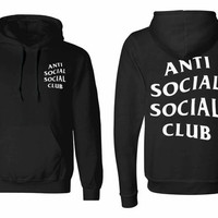 Anti Social Social Club unisex Hoodie sweatshirt pullover, jumper sweater pocket