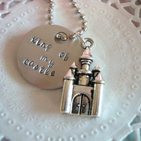 King Or Queen Of My Castle Hand Stamped Keychain