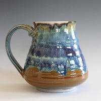 Unique coffee mug, 21 oz, handmade cup, handthrown mug, stoneware mug, wheel thrown pottery mug, ceramics and pottery