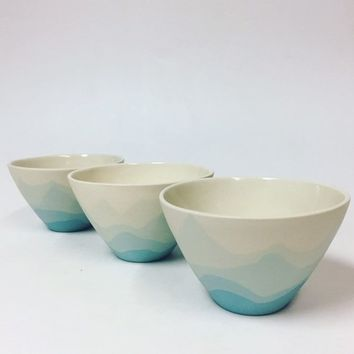 Blue Mountain Bowl. Handmade Pottery. Handmade Ceramic Bowl. Modern, Minimal Home Decor. Housewarming Gift. Wedding Gift.
