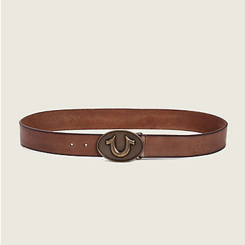 HORSESHOE BUCKLE MENS BELT