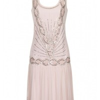 Zelda Flapper Dress Pale Pink - New In