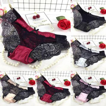 hot sale  Women Underwear Cozy lace Sexy Lingerie Panties for Women Tempting Pretty High Quality Low Waist hollow Brief Panties