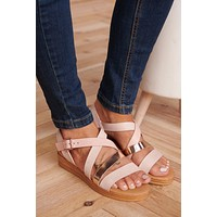 Strappy To Be Here Sandals (Blush Multi)