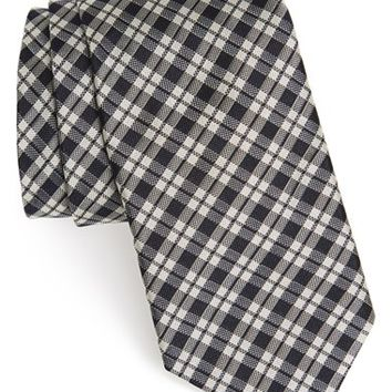 Men's Todd Snyder White Label Plaid Silk Tie, Size Regular