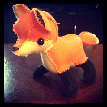 Small Fox handmade felt plushie stuffed animal