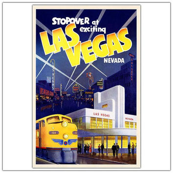 Las Vegas-Framed 24x32 Canvas Art