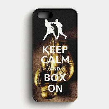 Keep Calm Wwe Boxing Gloves iPhone SE Case