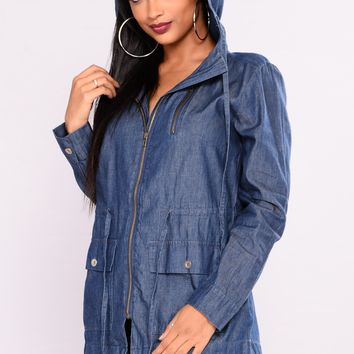 Romy Chambray Jacket - Dark Wash