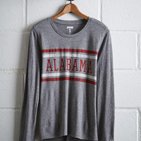 Tailgate Women's Alabama Long Sleeve T-Shirt, Gray Heather