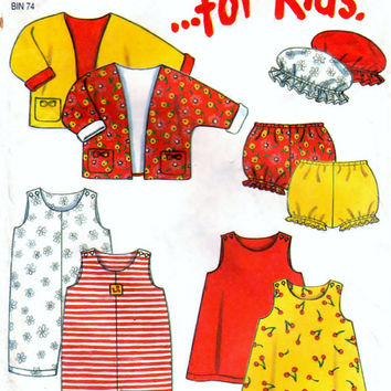 New Look 6880 Sewing Pattern - Dress, Romper, Jacket, Hat, And Panties For Kids