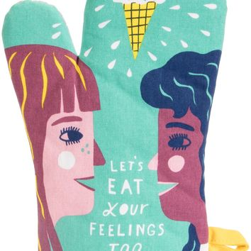 Let's Eat Your Feelings Too Oven Mitt - PRE-ORDER, SHIPS LATE JULY