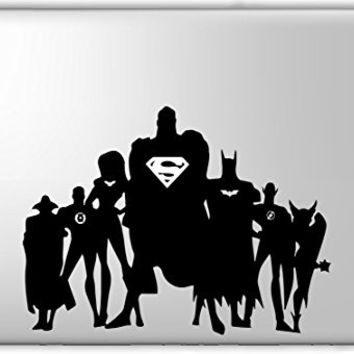 Justice League Superman Batman Superhero - Apple Macbook Laptop Vinyl Sticker Decal