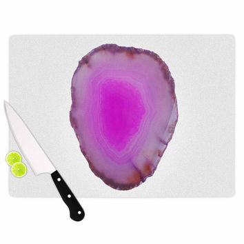 "Chelsea Victoria ""Agate"" Magenta Nature Cutting Board"