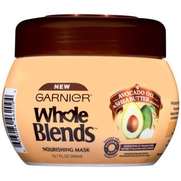 Garnier Whole Blends Hair Mask with Avocado Oil & Shea Butter Extracts 10.1 FL OZ - Walmart.com