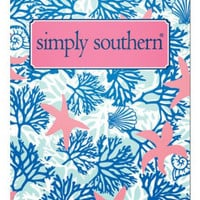 Simply Southern Starfish Pocket Folder - Pink/Blue