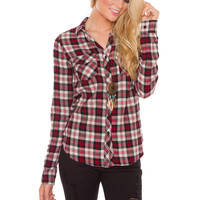 Fine Line Plaid Top
