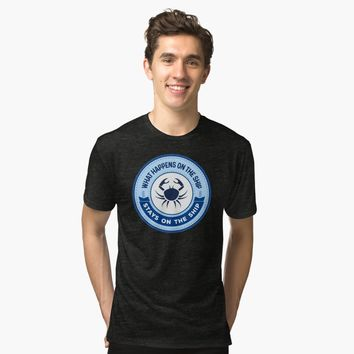 """What Happens on the SHIP ..."" Tri-blend T-Shirt by Naumovski 