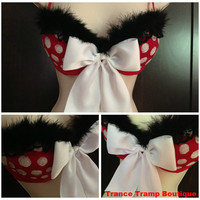 Red Minnie Mouse Costume Bra