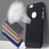 New Slim Cooling Hollow Heat Radiating Design Hard Plastic Phone Case For iPhone 5S SE 6 6Plus 7 7Plus Back Cover MN954-MN958
