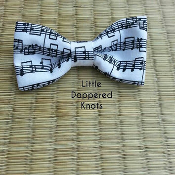 Music bowtie for boys, boys Bowties, boys Bowties, Boys Bow ties, white Kids Bowties,  Boys Bowties, Bowties for Boys,girls Bows, Headbands