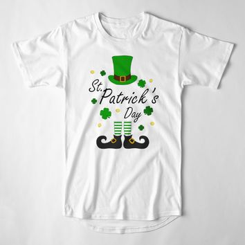'St Patricks Leprechaun' Long T-Shirt by ValentinaHramov