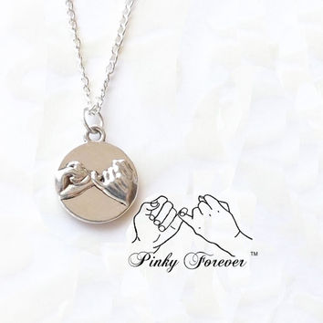 Pinky Promise Necklace - His Hers Couples Necklace - Best Friends Necklace  -  Pinky Swear Necklace - Boyfriend Girlfriend Pinkie