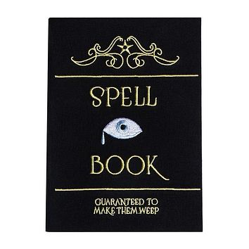 Spell Book Journal in Black with Gold Lettering