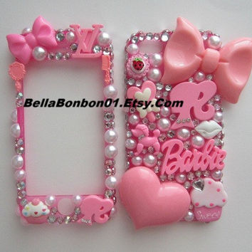 IPHONE 5 Barbie girly case by BellaBonbon01 on Etsy