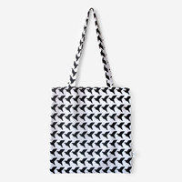 Black Origami Birds Tote Bag