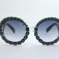 Women's Cute Lovely Summer Style Hot Fashion Fimo Flower Sunglasses = 4672224516