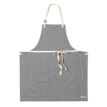 REGGIE BIB APRON, ENGINEER STRIPE