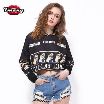 Retro Punk Crop TopPullover