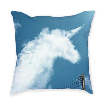 So into this design on Fab! Unicorn Cloud Throw Pillow #FabForAll