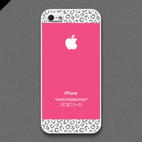 iPhone 5 / 5s case - Hot pink Leopard Pattern cases, iPhone Case, iPhone 5 Case, Cases for iPhone 5 IPHONE 5