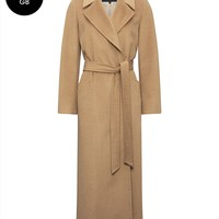 Camelhair Longline Belted Coat | Womens Clothing | Jaeger