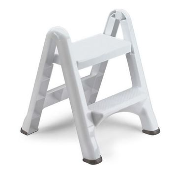 Rubbermaid® 4209-03-WHT EZ-Step Folding 2-Step Stool, White