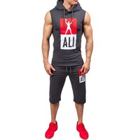 Men Summer Jogging Outdoors Gym Sportswear Set [10684405955]
