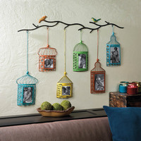 Birdcage Wall Mounted Photo Frame Decor