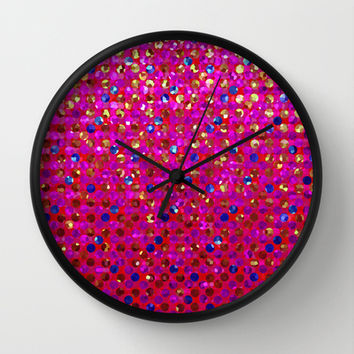Polkadots Jewels G216 Wall Clock by MedusArt | Society6