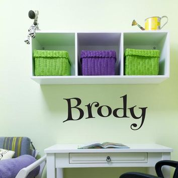 Brody Name Wall Decal