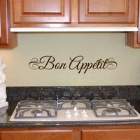 BON APPETIT WALL STICKER Elegant FRENCH WALL STICKERS KITCHEN DECOR free shipping french wall decals sticker fr2010
