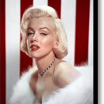 Marilyn Monroe Stretched Canvas Print / Canvas Art By Brigitta Frisch