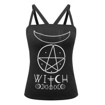 Gothic Witch Cami Tank Top