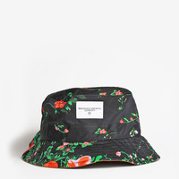 Black Garden Floral Bucket Hat