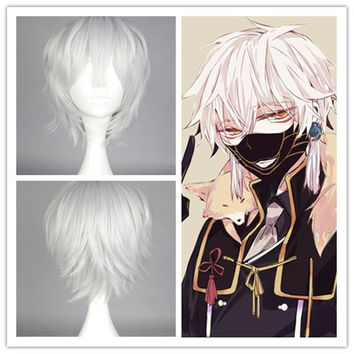 POP New Arrival Custom Made High Quality Touken Ranbu ONLINE Nakigitsune Cosplay Wig hair wig,Colorful Candy Colored synthetic Hair Extension Hair piece 1pcs WIG-579F