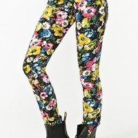 Electric Floral Skinny Jeans